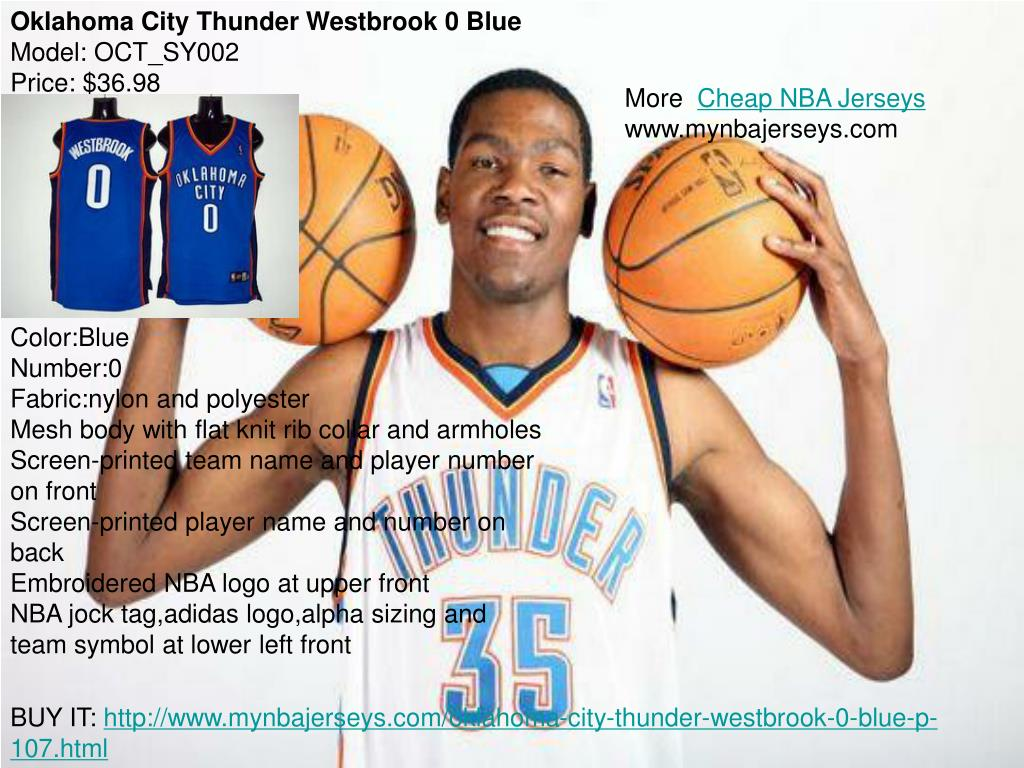 Oklahoma City Thunder Westbrook 0 Blue