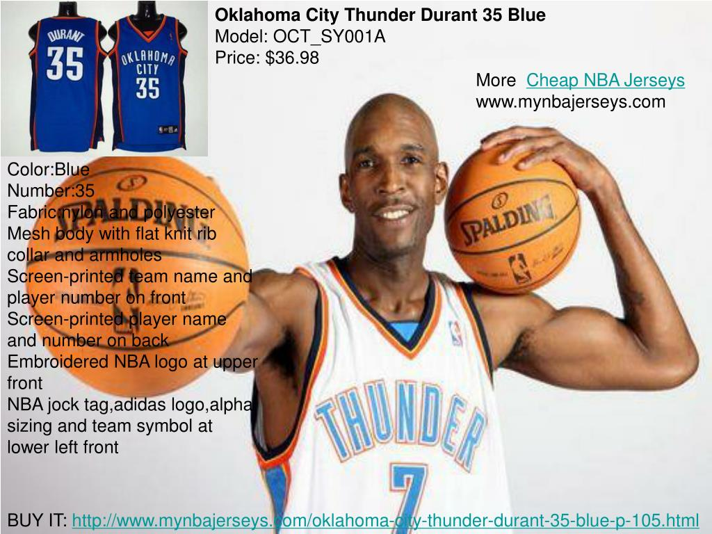 Oklahoma City Thunder Durant 35 Blue