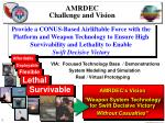amrdec challenge and vision