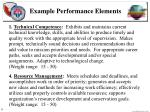 example performance elements