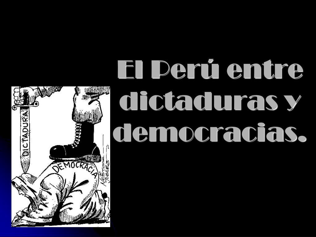 el per entre dictaduras y democracias l.