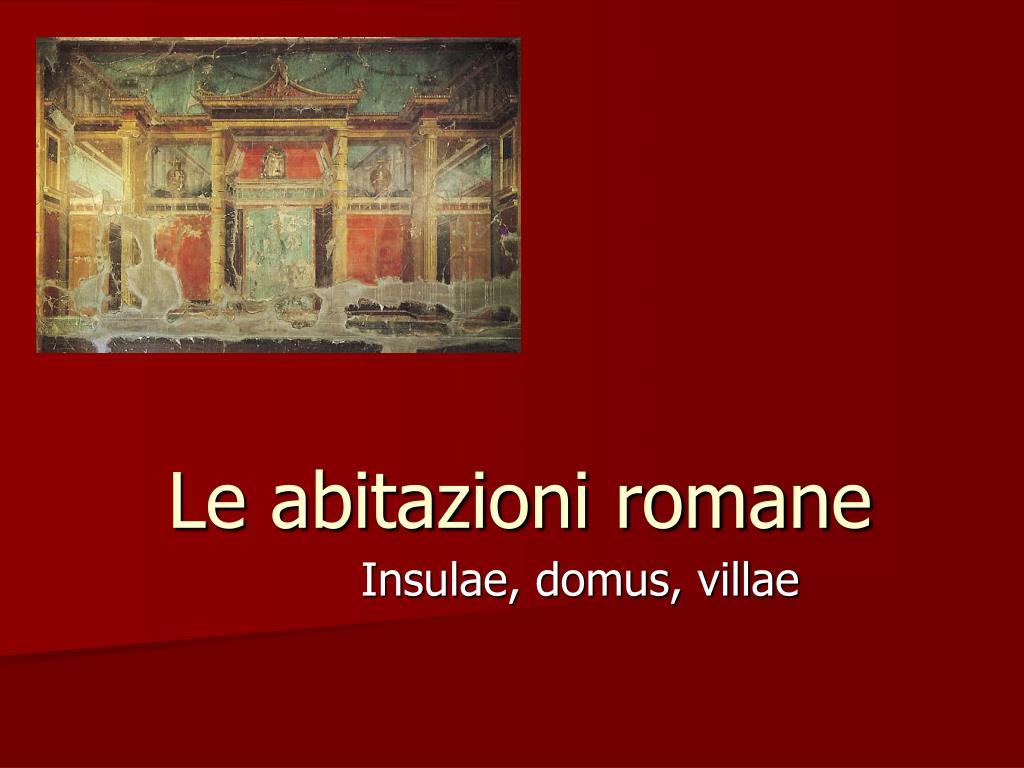 le abitazioni romane l.