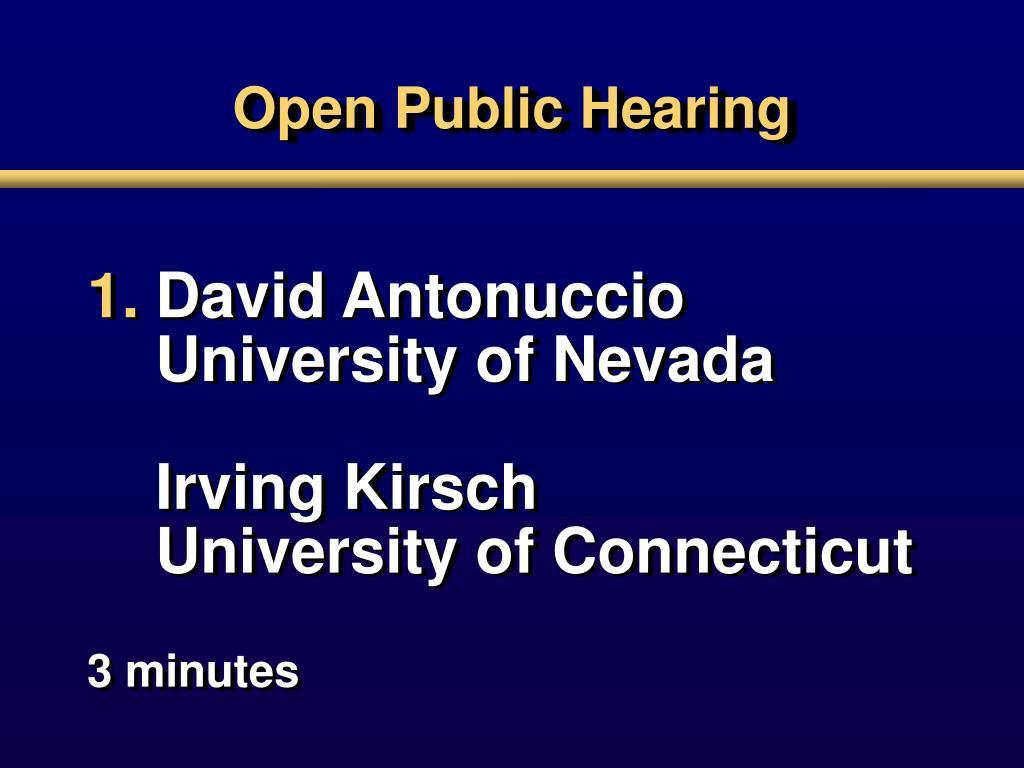 open public hearing l.