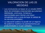 valoracion de las 25 medidas16