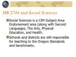hb 2744 and social sciences