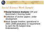 social science work sample