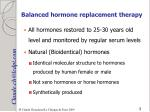 balanced hormone replacement therapy