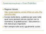 amministrazioni e enti pubblici19