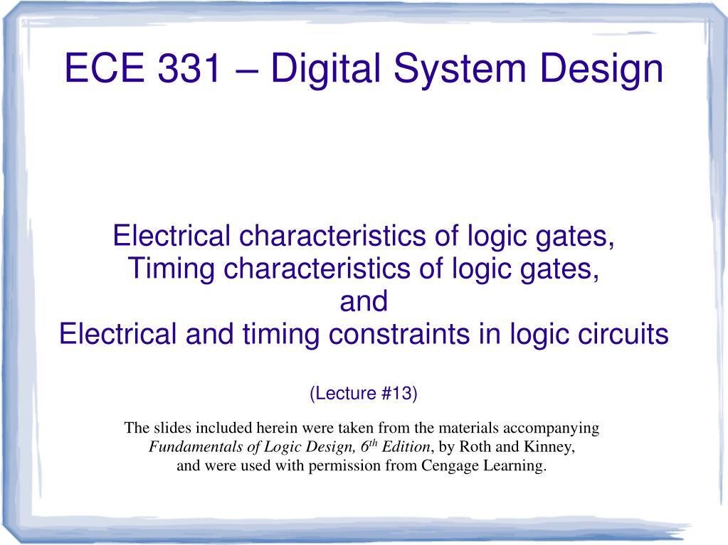 Ppt Ece 331 Digital System Design Powerpoint Presentation Free Download Id 785667