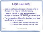 logic gate delay