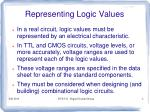 representing logic values