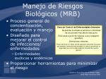 manejo de riesgos biol gicos mrb