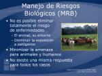 manejo de riesgos biol gicos mrb3