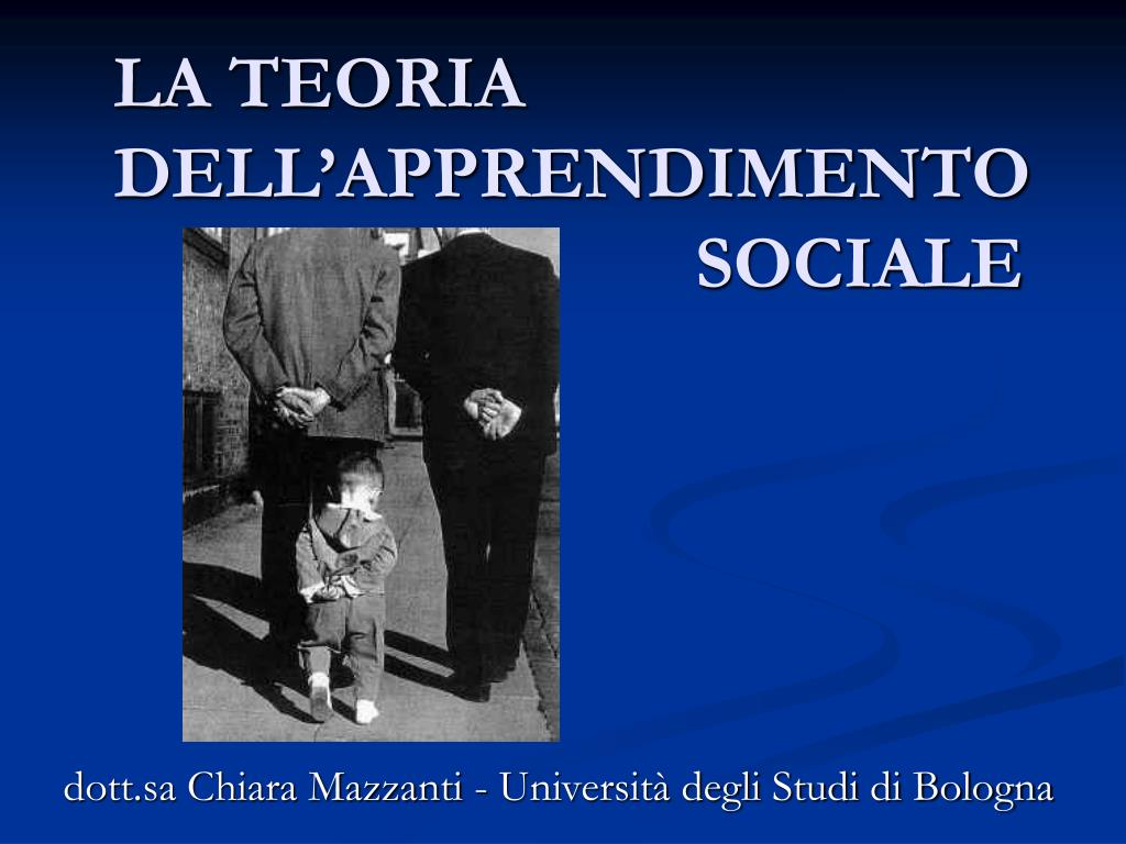 la teoria dell apprendimento sociale l.
