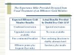 the experience mike provided deviated from usual treatment of an hhonors gold member