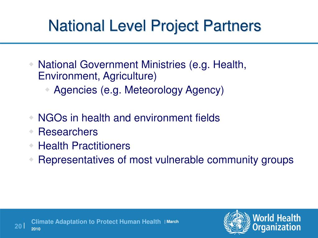 National Level Project Partners