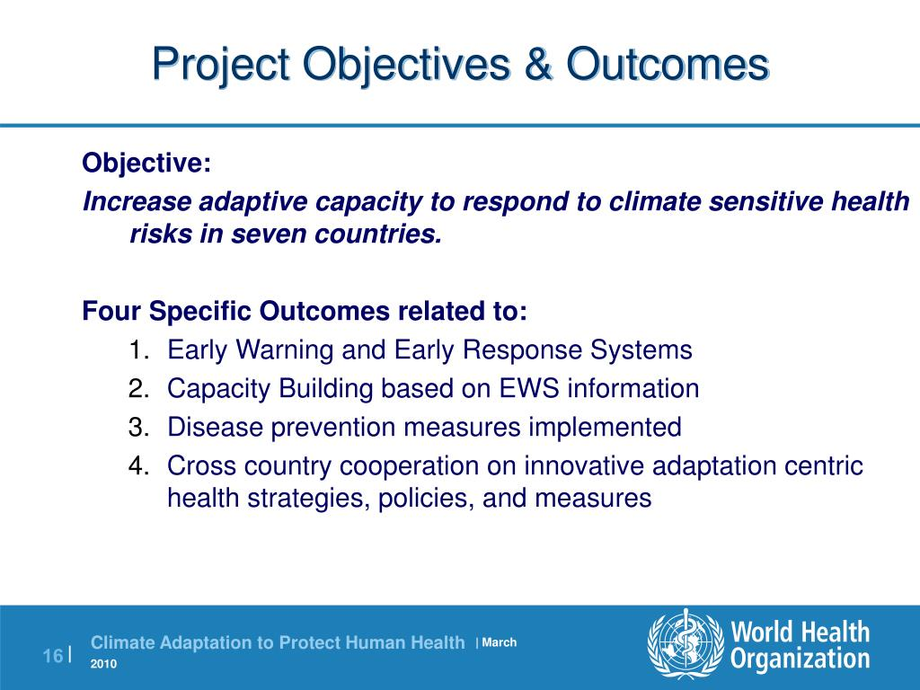 Project Objectives & Outcomes