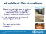 vulnerabilities in water stressed areas