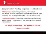 complementary feeding response considerations