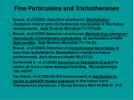 fine particulates and trichothecenes