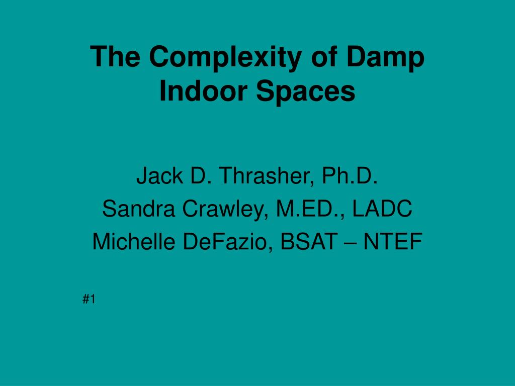 the complexity of damp indoor spaces l.