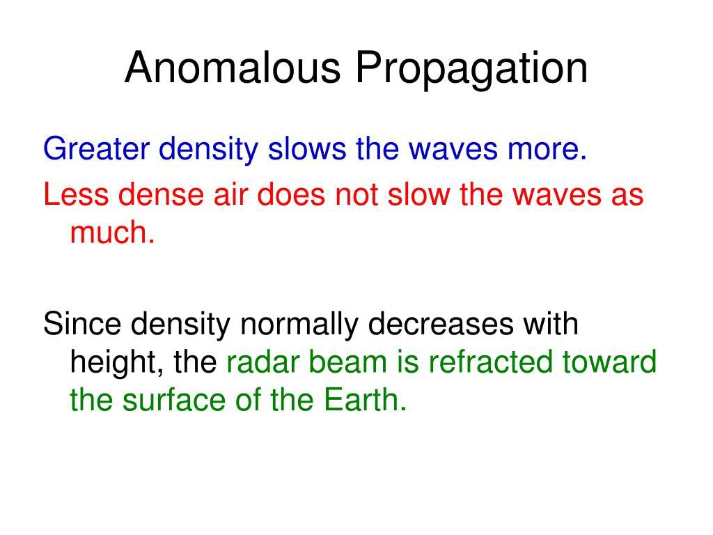 anomalous propagation l.