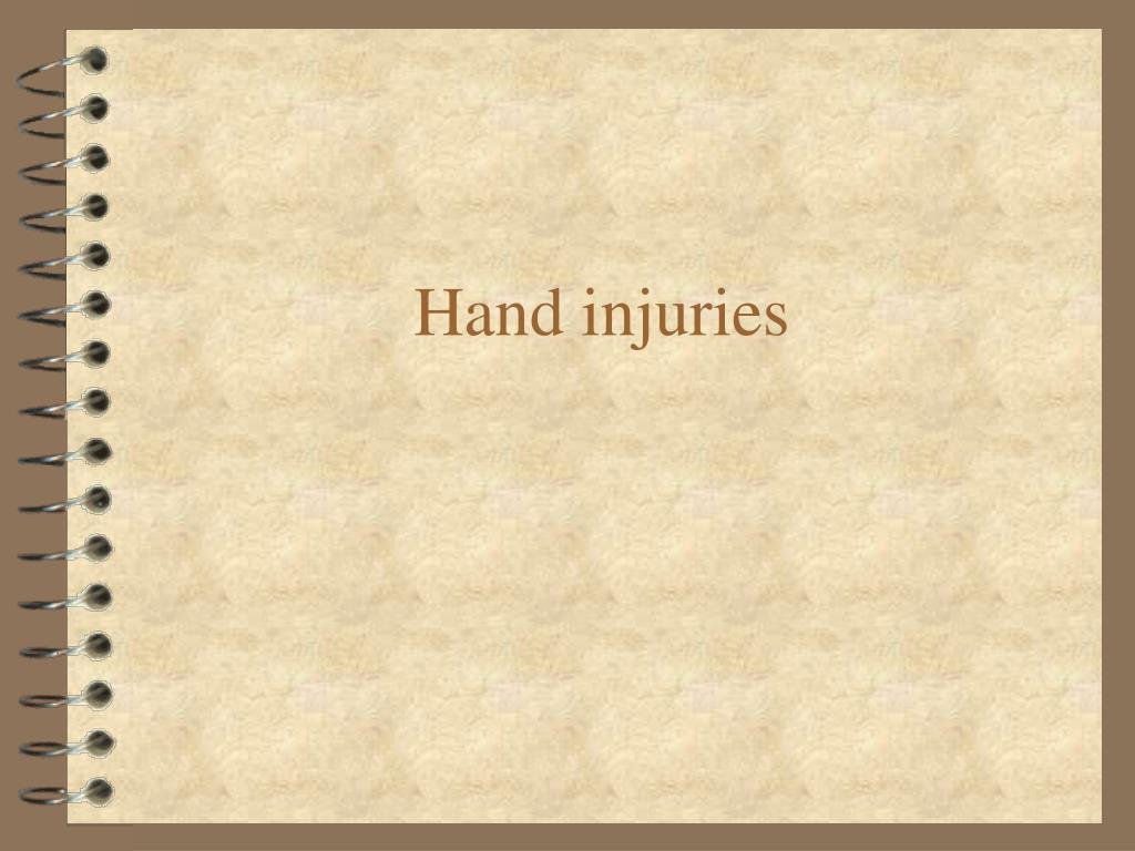 hand injuries l.