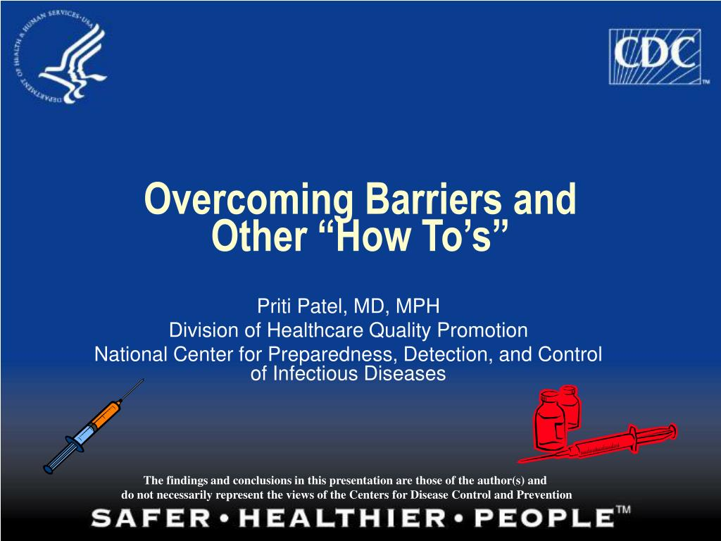 overcoming barriers and other how to s l.