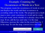 example counting the occurrences of words in a text