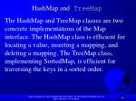 hashmap and treemap