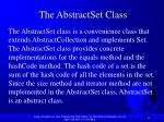 the abstractset class