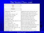 the vector class cont