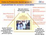 c mo la protecci n social apoya la empleabilidad de sectores vulnerables