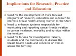 implications for research practice and education