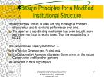 design principles for a modified institutional structure17