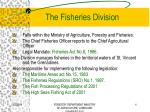 the fisheries division