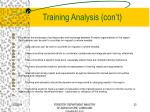 training analysis con t25