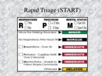 rapid triage start