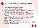 current socio demographics