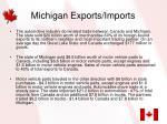 michigan exports imports