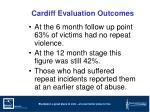 cardiff evaluation outcomes