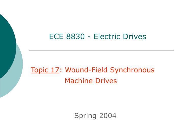 ece 8830 electric drives n.
