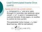 load commutated inverter drive cont d39