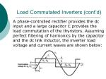 load commutated inverters cont d