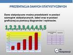 prezentacja danych statystycznych