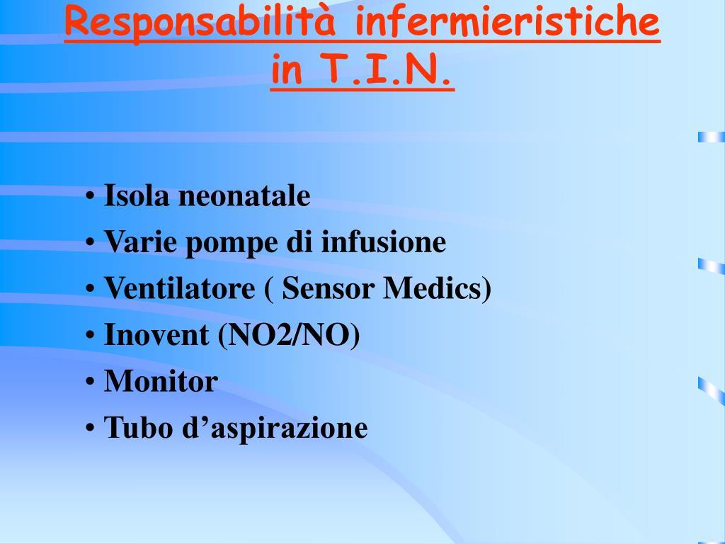 Responsabilità infermieristiche
