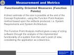 functionality oriented measures function points