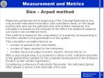 size arpad method