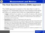 the goal question metrics gqm approach