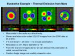 illustrative example thermal emission from mars